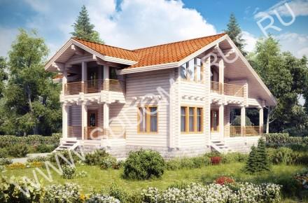 Дом из клееного бруса Царство дерева