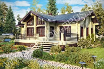 Дом из клееного бруса На холме