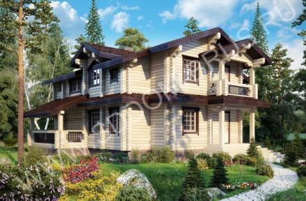 Дом из клееного бруса В сосновом бору