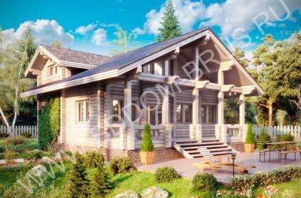 Дом из клееного бруса В окружении леса
