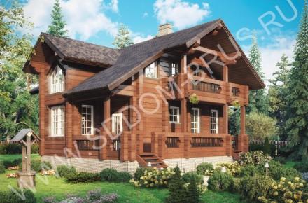 Дом из клееного бруса Простор для отдыха