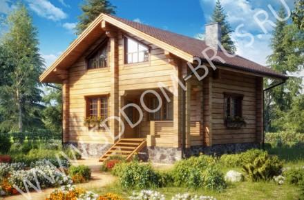 Дом из клееного бруса Гармония 3