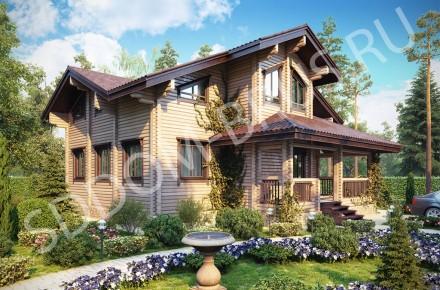 Дом из клееного бруса Загородная романтика