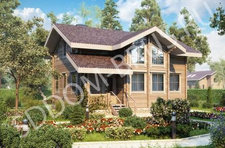 Дом из клееного бруса Тепло дерева