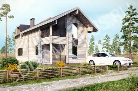 Дом из клееного бруса Домик в деревне