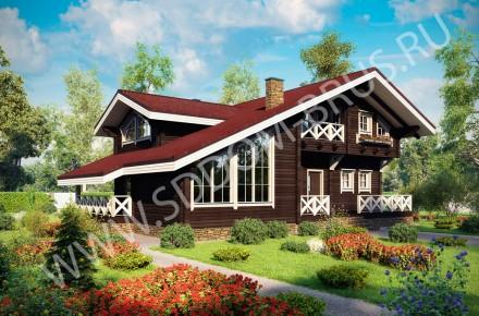 Дом из клееного бруса Шале