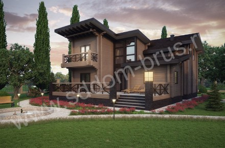 Дом из клееного бруса Модерн