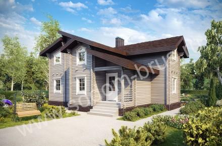 Дом из клееного бруса Уютный уголок
