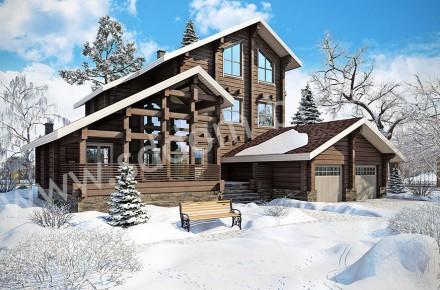 Дом из клееного бруса Зимняя сказка