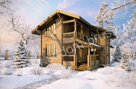 Дом из клееного бруса Морозный день