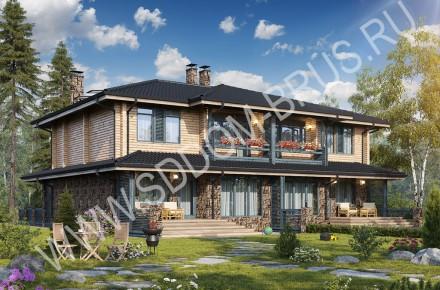 Дом из клееного бруса Таунхаус